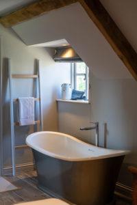 Modern bathtub and window